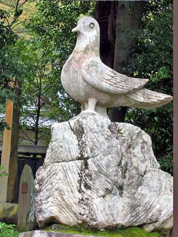 推古天皇の頃、小野妹子が遣隋使の命を受けて筑紫(九州)に到った時、 病... 鳩~ハト
